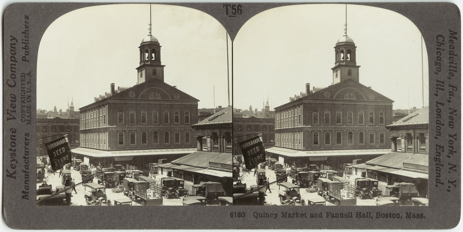 Quincy Market and Fanueil [sic] Hall, Boston, Mass