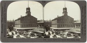 Quincy Market and Fanueil [sic] Hall, Boston, Mass.