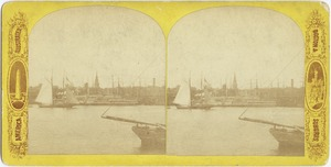 Boston Harbor and schooner