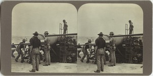 Fort Warren, Boston, Mass., loading ten-inch gun