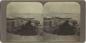 Fort Warren, Boston Harbor, ten-inch disappearing gun
