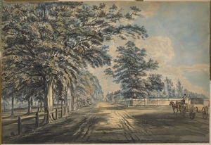 Tremont Street looking north, about 1800