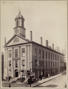 Boylston Market, Boylston & Washington Sts. Built 1809-10 by Chas. Bulfinch
