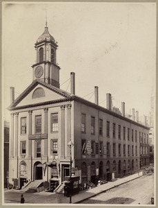 Boylston Market, Boylston and Washington Sts. Built 1809-10 by Chas. Bulfinch