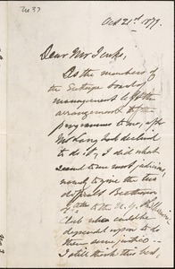 Letter from Charles C. Perkins to Francis H. Jenks, 1879 October 21