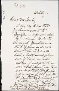 Letter from Charles C. Perkins to Francis H. Jenks, 1880 February 28