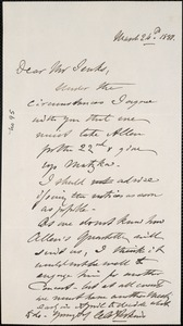 Letter from Charles C. Perkins to Francis H. Jenks, 1880 March 26