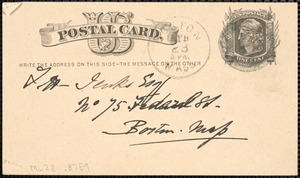 Postcard from Charles C. Perkins to Francis H. Jenks, 1880 April 22
