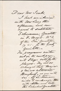 Letter from Charles C. Perkins to Francis H. Jenks, 1880 October 26
