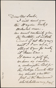 Letter from Charles C. Perkins to Francis H. Jenks, 1880 November 16