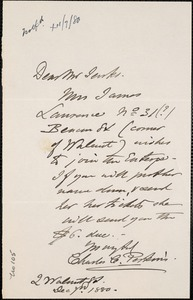 Letter from Charles C. Perkins to Francis H. Jenks, 1880 December 7