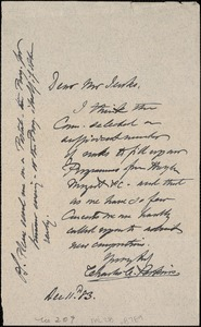 Letter from Charles C. Perkins to Francis H. Jenks, 1883 December 11