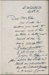 Letter from Charles C. Perkins to Charles N. Allen, 1886 February 8