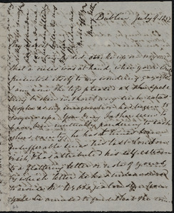 Letter from Mary Anne Estlin, Dublin, [Ireland], to Emma Forbes Weston, July 9, 1852