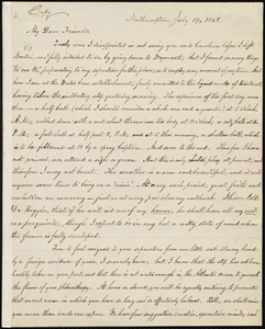 Copy of letter from William Lloyd Garrison, Northampton, [Mass.], to Maria Weston Chapman, July 19, 1848