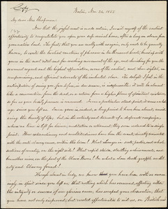 Copy of letter from William Lloyd Garrison, Boston, [Mass.], to Maria Weston Chapman, Nov. 24, 1855