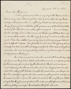 Copy of letter from William Lloyd Garrison, Syracuse, [New York], to Maria Weston Chapman, Oct. 31, 1865