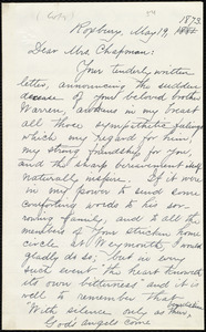 Copy of letter from William Lloyd Garrison, Roxbury, [Mass.], to Maria Weston Chapman, May 19, 1873