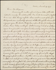 Copy of letter from William Lloyd Garrison, Boston, [Mass.], to Maria Weston Chapman, March 19, 1877