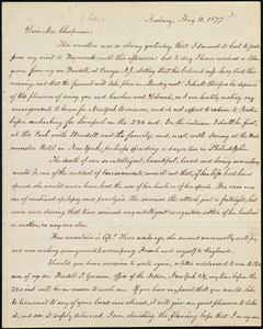Copy of letter from William Lloyd Garrison, Roxbury, [Mass.], to Maria Weston Chapman, May 11, 1877