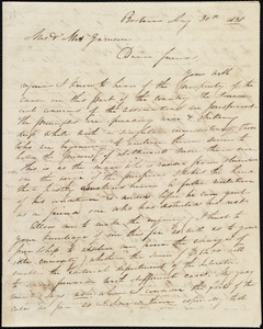 Letter from Maria Weston Chapman, Boston, [Mass.], to William Lloyd Garrison and Helen Eliza Garrison, Aug. 30th, 1838
