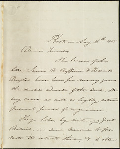 Letter from Maria Weston Chapman, Boston, [Mass.], to Richard Davis Webb, Aug. 16th, 1845