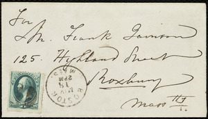 Letter from Maria Weston Chapman, Hotel La Grange, Boston, [Mass.], to Francis Jackson Garrison, May 18th, [1875]