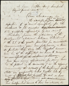 Rough draft of letter from Maria Weston Chapman to Anne Cropper