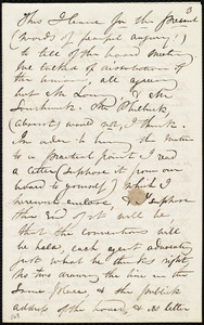 Partial letter from Maria Weston Chapman to David Lee Child, [1843?]