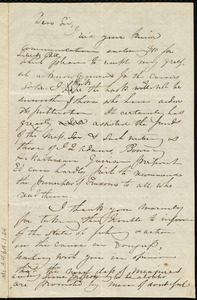 Draft of letter from Maria Weston Chapman, [Boston, Mass.], to Nathaniel B. Borden, [Jan. 1842]