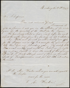 Letter from C. E. Weston, Reading, [Mass.], to Maria Weston Chapman, Nov. 24th, 1847