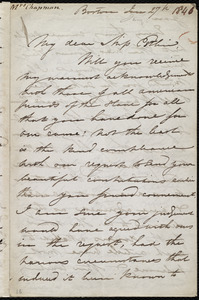 Letter from Maria Weston Chapman, Boston, [Mass.], to Mary Anne Estlin, Jan. 27, 1846