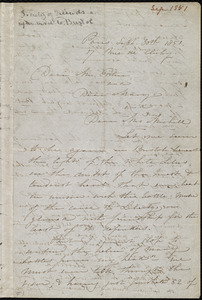 Letter from Maria Weston Chapman, 17 Rue de Clichy, Paris, [France], to John Bishop Estlin, Mary Anne Estlin, and Emma Michell, Sept. 30th, 1851