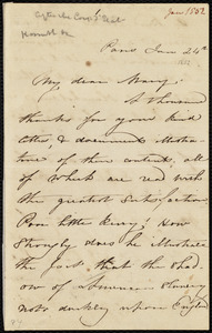 Letter from Maria Weston Chapman, Paris, [France], to Mary Anne Estlin, Jan. 24th, 1852