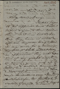 Letter from Maria Weston Chapman, Paris, [France], to Mary Anne Estlin, Feb'y 7th, [1852]