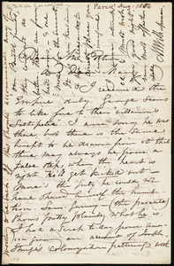 Letter from Maria Weston Chapman, [Paris, France], to John Bishop Estlin and Mary Anne Estlin, [Aug. 1854]