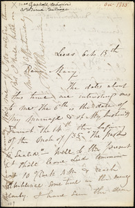 Letter from Maria Weston Chapman, Leeds, [England], to Mary Anne Estlin, Oct. 15th, [1855]