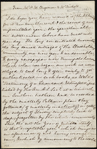 Letter from Maria Weston Chapman to Emma Michell, [Jan. 1861]