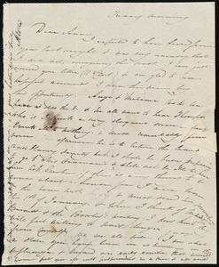 Letter from Maria Weston Chapman to Anne Warren Weston, Friday morning, [Dec. 1834?]