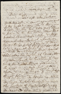Letter from Maria Weston Chapman, Leeds, [England], to Elizabeth Bates Chapman Laugel, October 15th, [1849?]