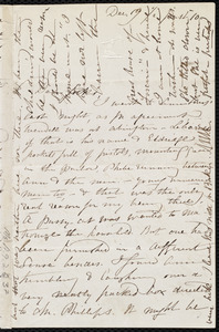 Letter from Maria Weston Chapman, Dec. 19, [1859?], 1/2 past 10 [o'clock]