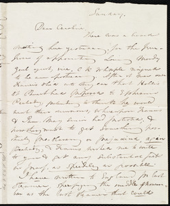 Incomplete letter from Maria Weston Chapman to Caroline Weston, Sunday, [Dec. 14, 1845]