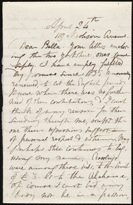 Letter from Maria Weston Chapman, 119 Madison Avenue, [New York], to Deborah Weston, April 24th, [186-?]