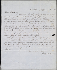 Letter from Abby Kelley Foster, Anti-Slavery Office, [Boston?], to Anne Warren Weston, Mar. 21, [1860?]