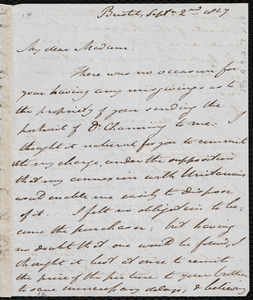 Letter from John Bishop Estlin, Bristol, [England], to Maria Weston Chapman, Sept. 2nd, 1847