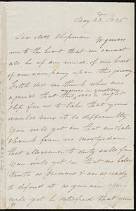 Letter to Maria Weston Chapman, Boston, [Mass.], May 23'd, 1836