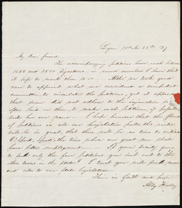 Letter from Abby Kelley Foster, Lynn, [Mass.], to Maria Weston Chapman, 11th Mo[nth] 25th [day] '37