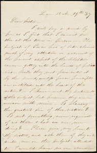 Letter from Abby Kelley Foster, Lynn, [Mass.], to Maria Weston Chapman, 12 Mo[nth] 19th [day] '37