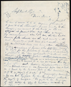 Rough draft of letter from Maria Weston Chapman to Sarah Pugh, Jan. 14th, 1840