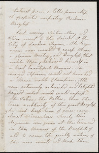 Letter from Mary Carpenter, Bristol, [England], to Maria Weston Chapman, Apr. 1st, 11 1/2 p.m
